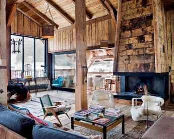 35 Chalet Living Room Decor Ideas (24)