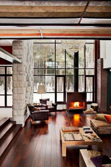 35 Chalet Living Room Decor Ideas (29)