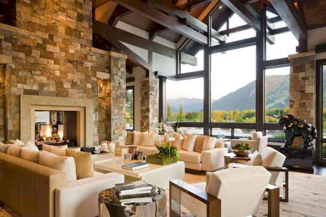 35 Chalet Living Room Decor Ideas (33)