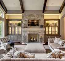 40 Awesome Farmhouse Fireplace Decor Ideas and Remodel (27)