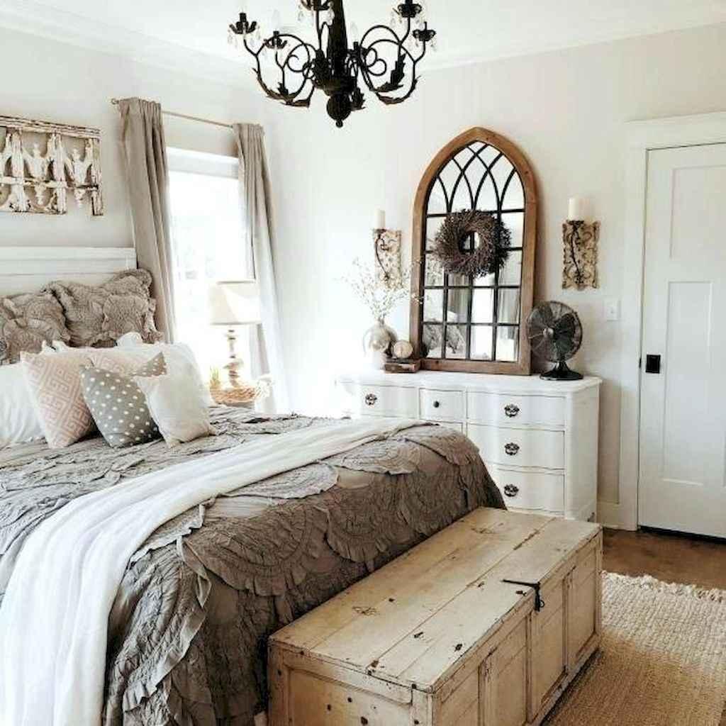 40 Modern Farmhouse Bedroom Decor Ideas and Makeover (32)