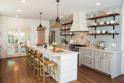 45 Modern Farmhouse Kitchen Cabinets Decor Ideas and Makeover (1)