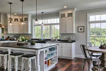 45 Modern Farmhouse Kitchen Cabinets Decor Ideas and Makeover (23)