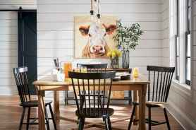 60 Brilliant Farmhouse Kitchen Table Design Ideas and Makeover (10)