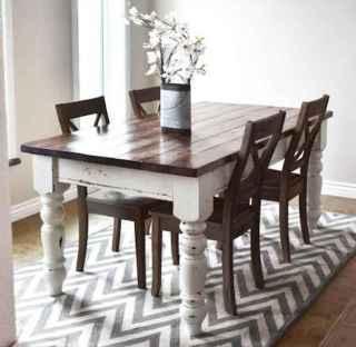 60 Brilliant Farmhouse Kitchen Table Design Ideas and Makeover (16)