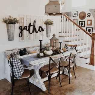 60 Brilliant Farmhouse Kitchen Table Design Ideas and Makeover (19)