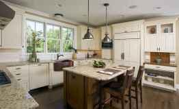 60 Brilliant Farmhouse Kitchen Table Design Ideas and Makeover (20)