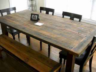 60 Brilliant Farmhouse Kitchen Table Design Ideas and Makeover (51)