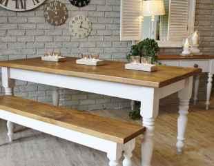60 Brilliant Farmhouse Kitchen Table Design Ideas and Makeover (52)