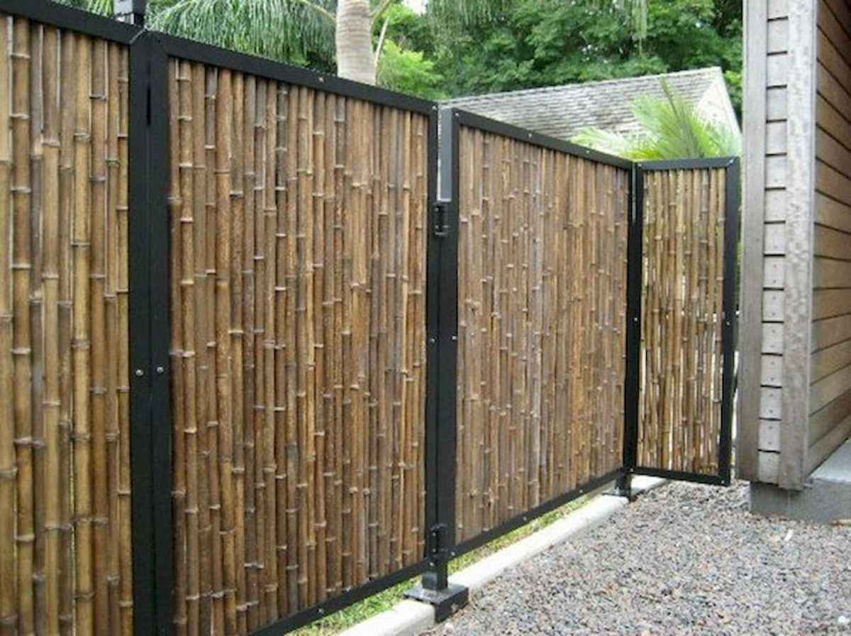 70 Gorgeous Backyard Privacy Fence Decor Ideas on A Budget (53)