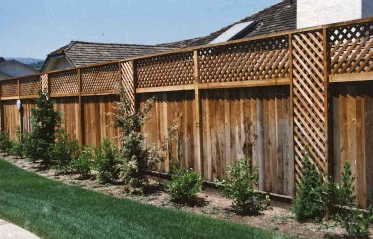 70 Gorgeous Backyard Privacy Fence Decor Ideas on A Budget (7)
