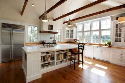 80 Modern Farmhouse Kitchen Lighting Decor Ideas and Remodel (24)