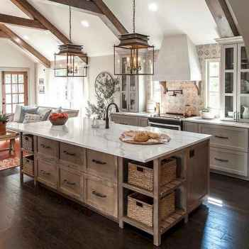 80 Modern Farmhouse Kitchen Lighting Decor Ideas and Remodel (7)