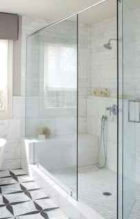 100 Farmhouse Bathroom Tile Shower Decor Ideas And Remodel To Inspiring Your Bathroom (101)