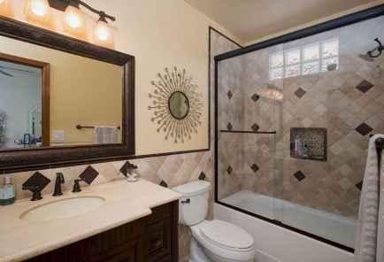 100 Farmhouse Bathroom Tile Shower Decor Ideas And Remodel To Inspiring Your Bathroom (12)