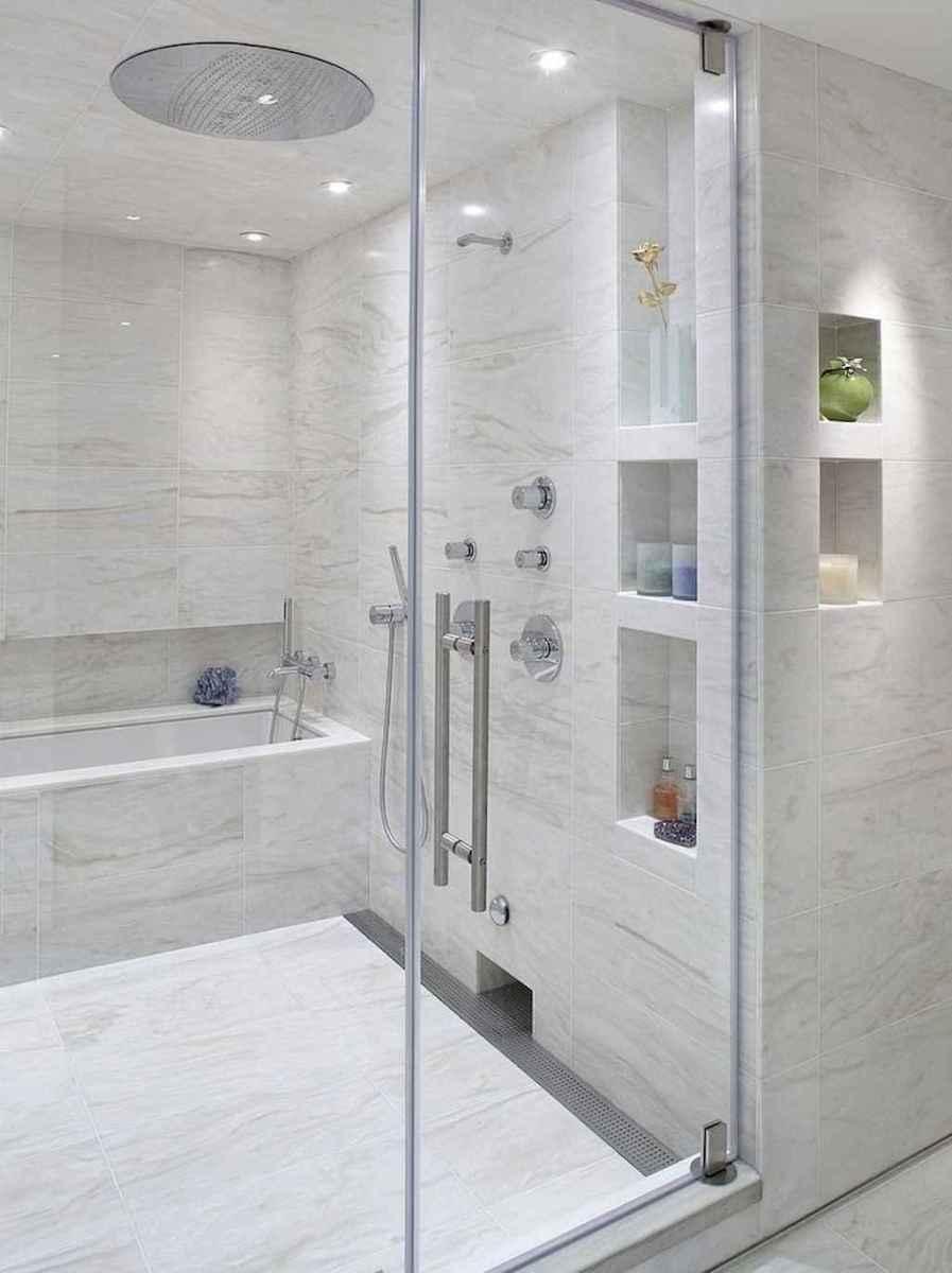 100 Farmhouse Bathroom Tile Shower Decor Ideas And Remodel To Inspiring Your Bathroom (19)
