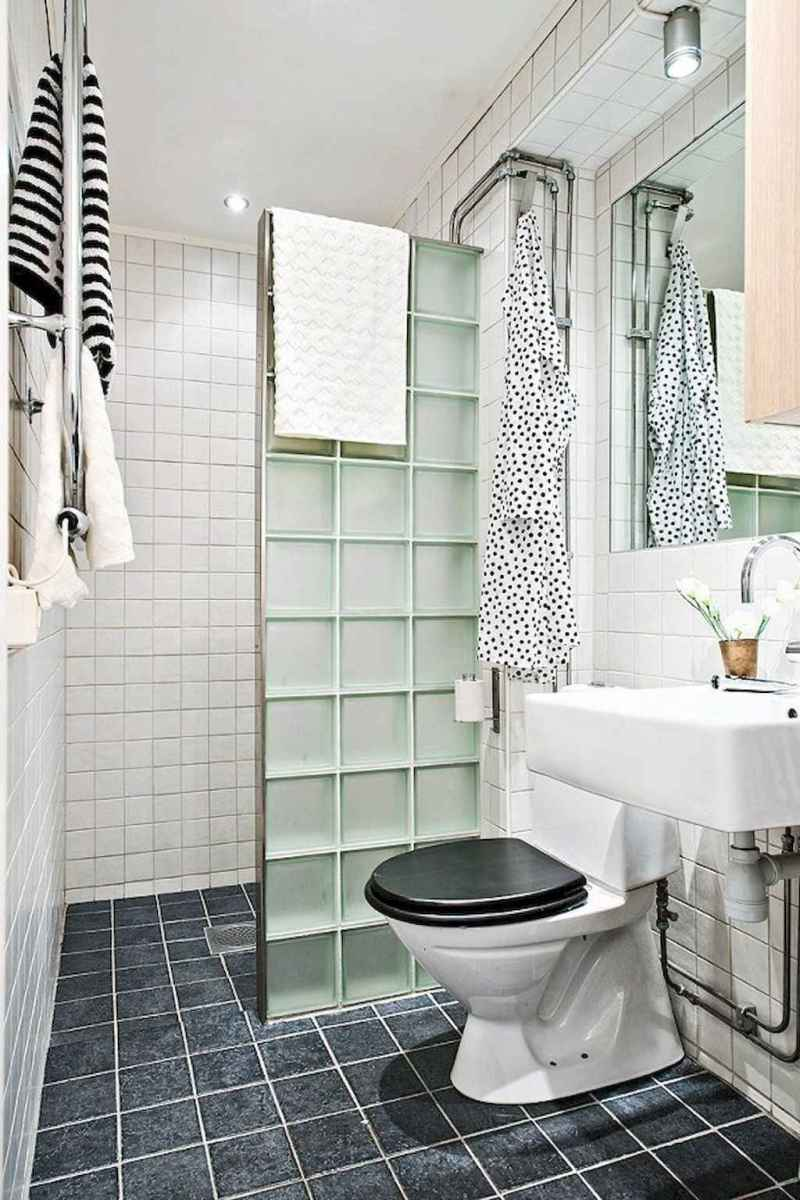 100 Farmhouse Bathroom Tile Shower Decor Ideas And Remodel To Inspiring Your Bathroom (44)