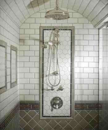 100 Farmhouse Bathroom Tile Shower Decor Ideas And Remodel To Inspiring Your Bathroom (54)