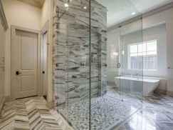 100 Farmhouse Bathroom Tile Shower Decor Ideas And Remodel To Inspiring Your Bathroom (57)