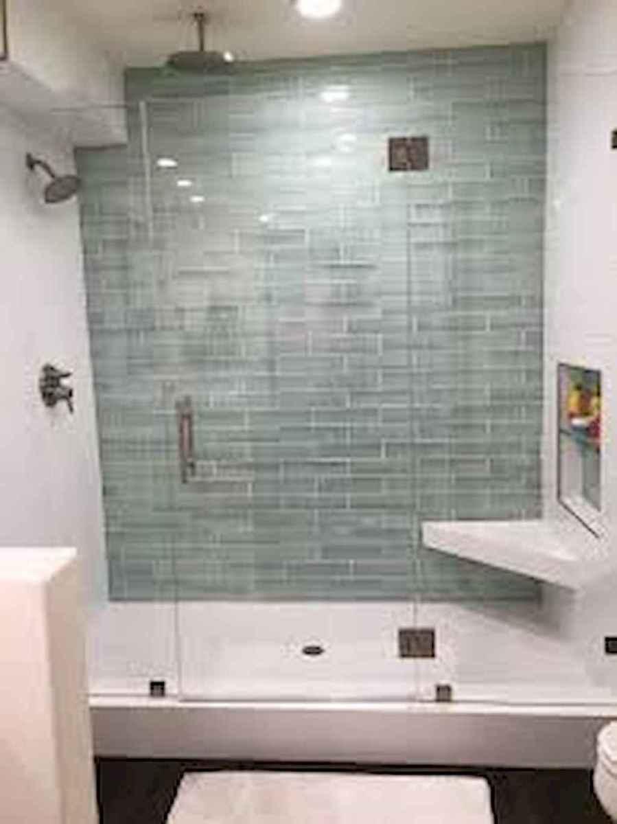 100 Farmhouse Bathroom Tile Shower Decor Ideas And Remodel To Inspiring Your Bathroom (66)