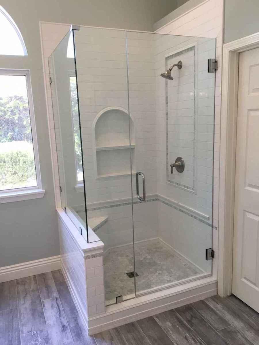 100 Farmhouse Bathroom Tile Shower Decor Ideas And Remodel To Inspiring Your Bathroom (81)