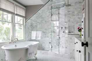 100 Farmhouse Bathroom Tile Shower Decor Ideas And Remodel To Inspiring Your Bathroom (90)