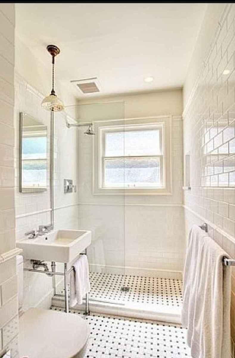 100 Farmhouse Bathroom Tile Shower Decor Ideas And Remodel To Inspiring Your Bathroom (94)