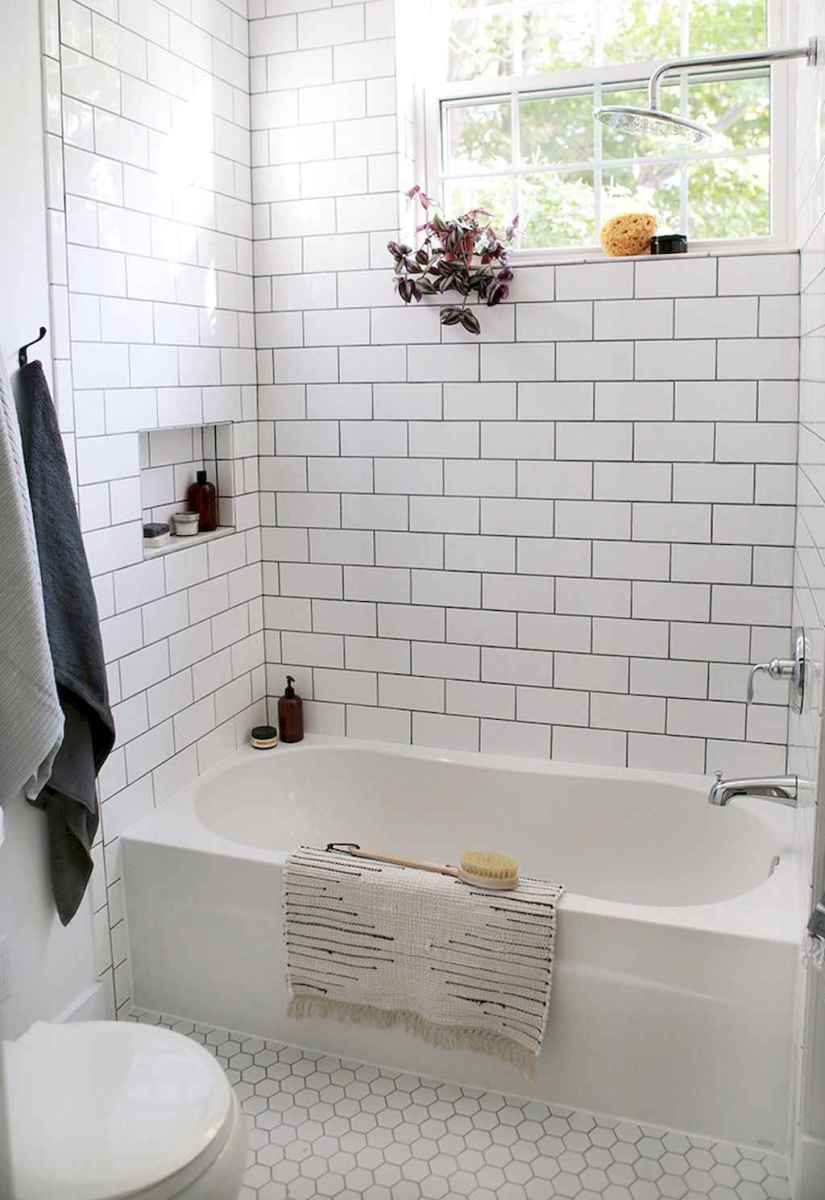 100 Farmhouse Bathroom Tile Shower Decor Ideas And Remodel To Inspiring Your Bathroom (98)