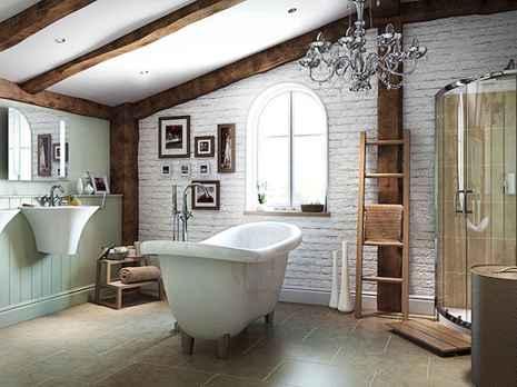 120 Modern Farmhouse Bathroom Design Ideas And Remodel (75)