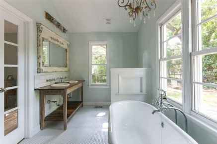 150 Awesome Farmhouse Bathroom Tile Floor Decor Ideas And Remodel To Inspire Your Bathroom (12)