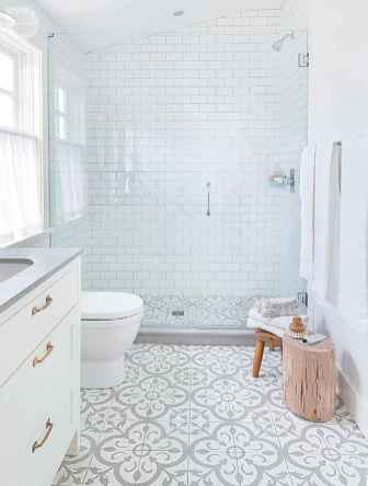 150 Awesome Farmhouse Bathroom Tile Floor Decor Ideas And Remodel To Inspire Your Bathroom (18)