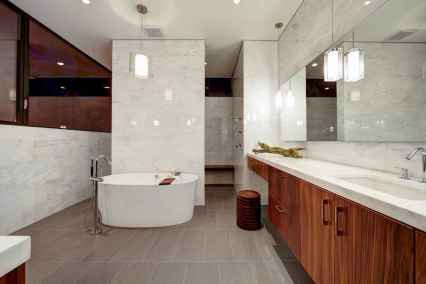150 Awesome Farmhouse Bathroom Tile Floor Decor Ideas And Remodel To Inspire Your Bathroom (71)