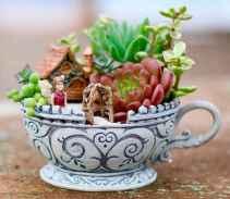 50 DIY Summer Garden Teacup Fairy Garden Ideas (31)