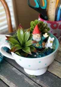 50 DIY Summer Garden Teacup Fairy Garden Ideas (35)
