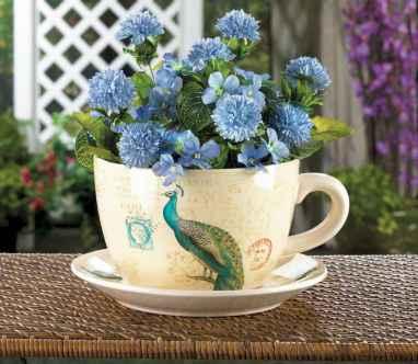 50 DIY Summer Garden Teacup Fairy Garden Ideas (42)