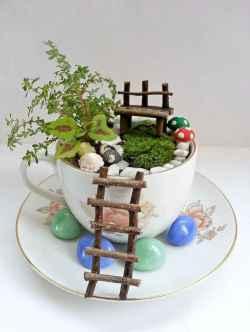 50 DIY Summer Garden Teacup Fairy Garden Ideas (43)