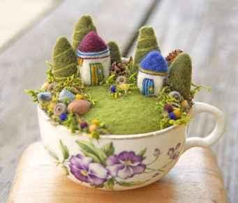 50 DIY Summer Garden Teacup Fairy Garden Ideas (45)