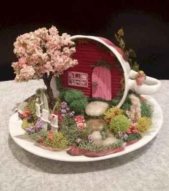 50 DIY Summer Garden Teacup Fairy Garden Ideas (46)