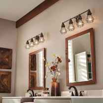 50 Lighting For Farmhouse Bathroom Ideas Decorating And Remodel (10)