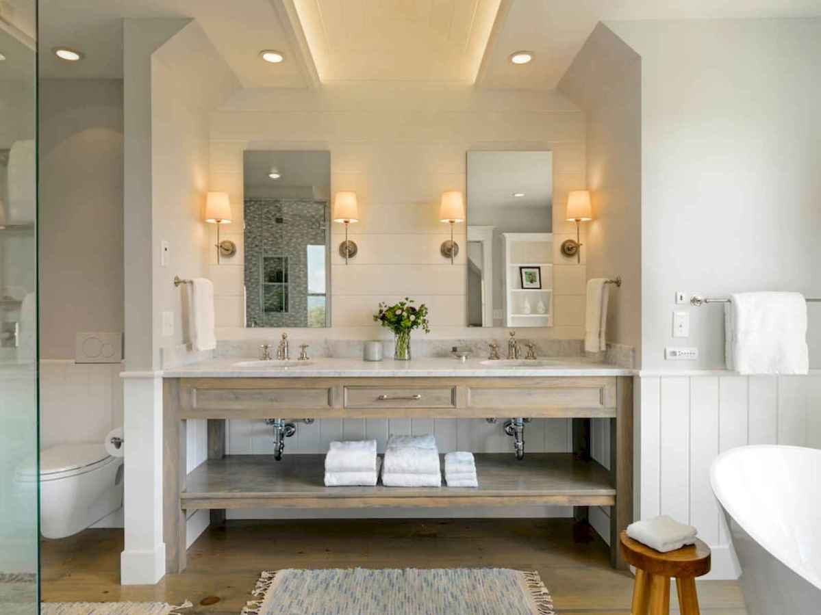 50 Lighting For Farmhouse Bathroom Ideas Decorating And Remodel (26)