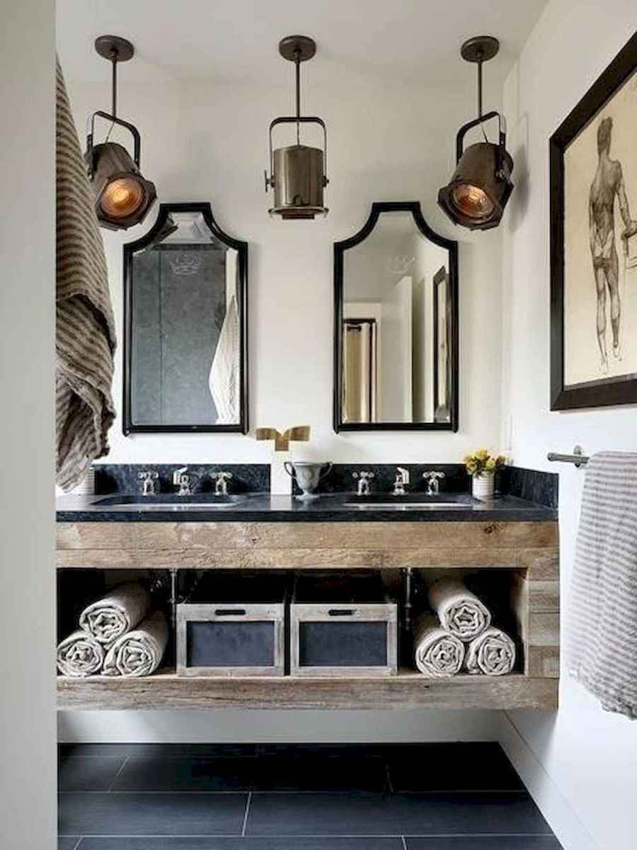 50 Lighting For Farmhouse Bathroom Ideas Decorating And Remodel (35)