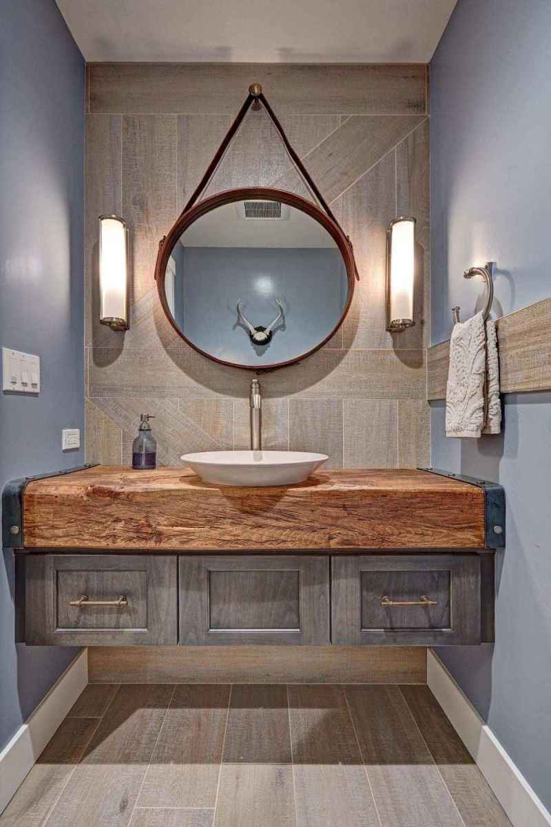 50 Lighting For Farmhouse Bathroom Ideas Decorating And Remodel (37)