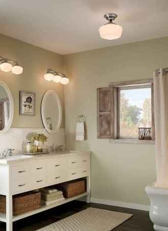 50 Lighting For Farmhouse Bathroom Ideas Decorating And Remodel (41)