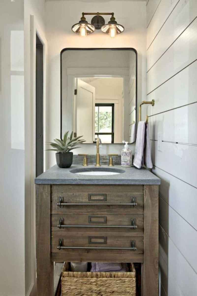 50 Lighting For Farmhouse Bathroom Ideas Decorating And Remodel (7)