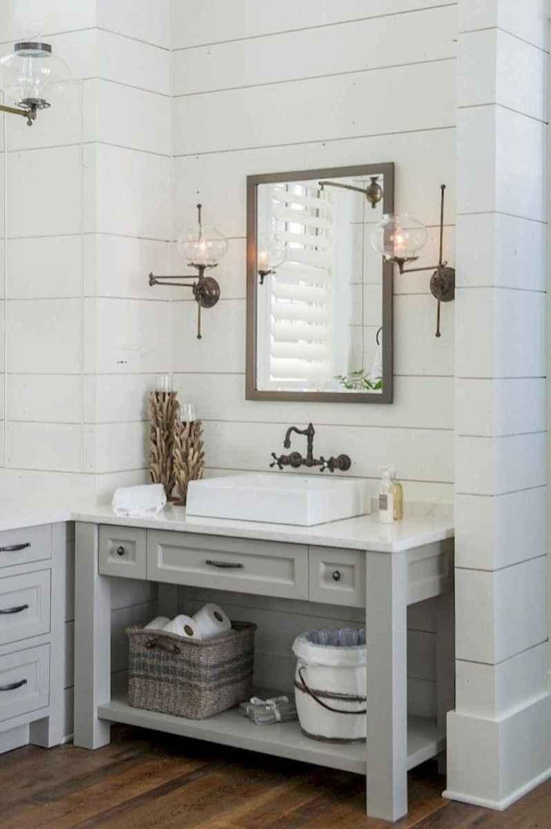 50 Lighting For Farmhouse Bathroom Ideas Decorating And Remodel (9)