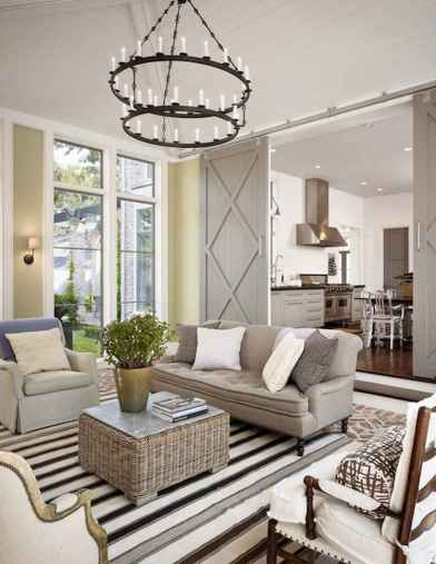 60 Farmhouse Living Room Lighting Ideas Decor And Design (35)