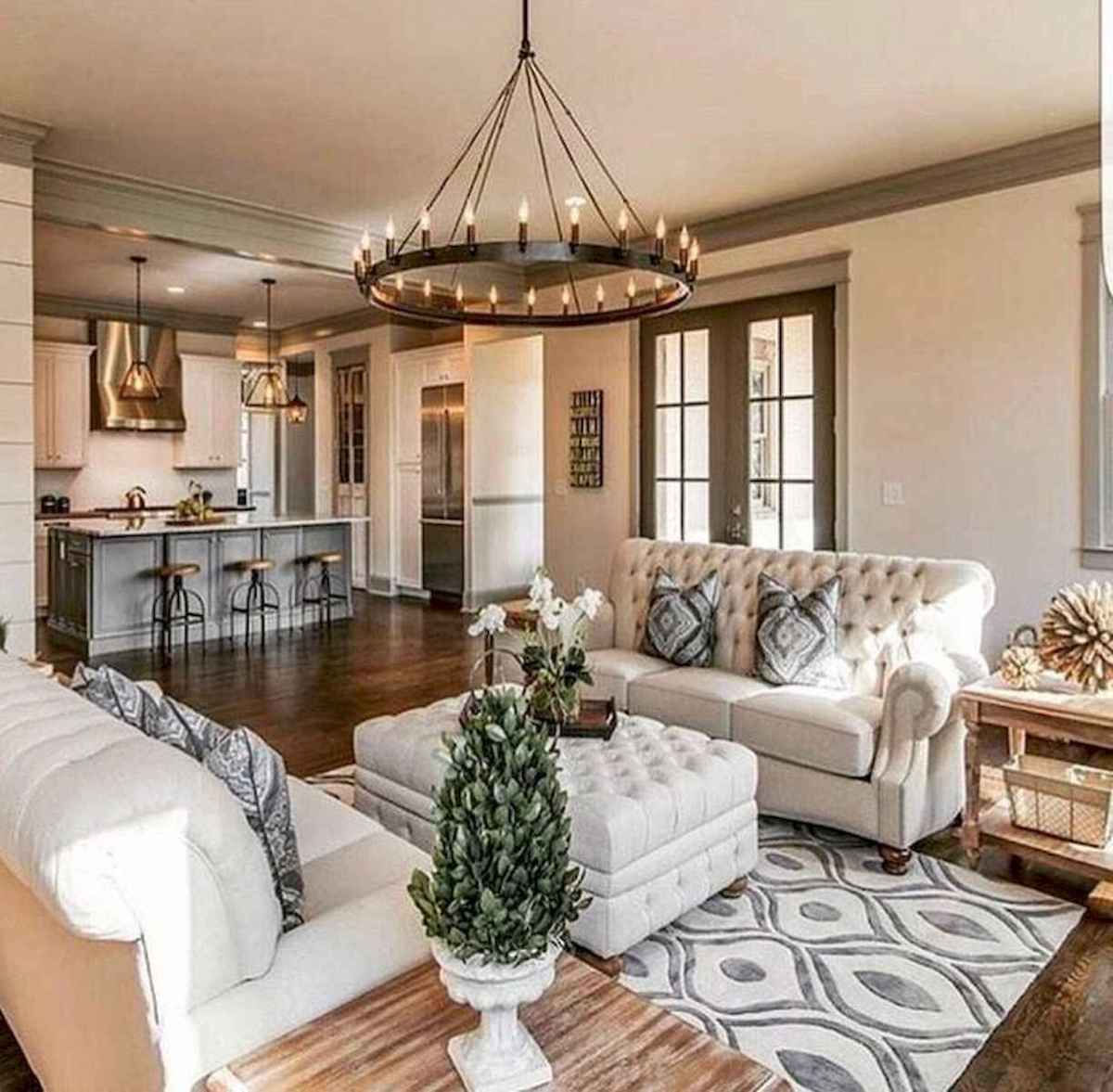 60 Farmhouse Living Room Lighting Ideas Decor And Design (61)