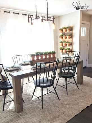 60 Modern Farmhouse Dining Room Table Ideas Decor And Makeover (49)