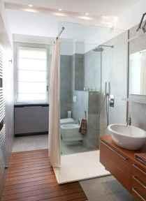 70 Inspiring Farmhouse Bathroom Shower Decor Ideas And Remodel (14)