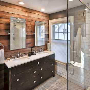 70 Inspiring Farmhouse Bathroom Shower Decor Ideas And Remodel (8)